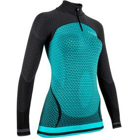 UYN Running Alpha OW Longsleeve ZipUp Shirt Dames, turquoise/zwart